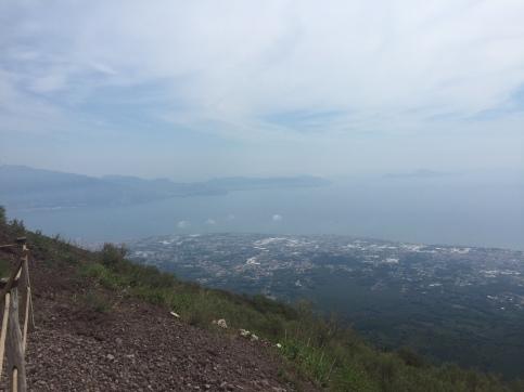 View from top of mount Vesuvius