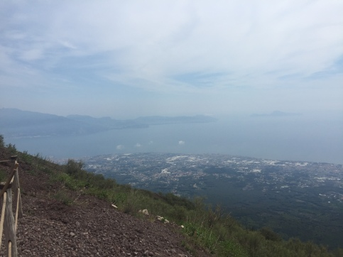 View from top of mount Vesuvius