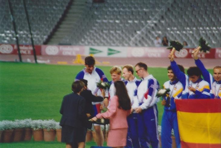 4X100 podium Barca 1992